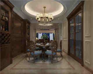300平美式,勾勒出精致与轻奢的质感-烟草局公司小区300平米别墅美式装修案例