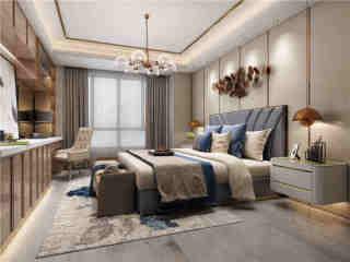 蠡湖边上的200平香槟色温暖之家-香樟园小区200平米4室美式装修案例