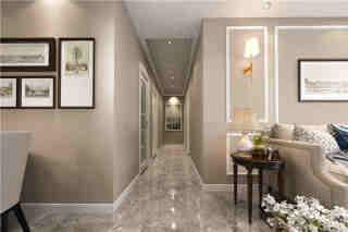 128平米白色调的优雅美式风格