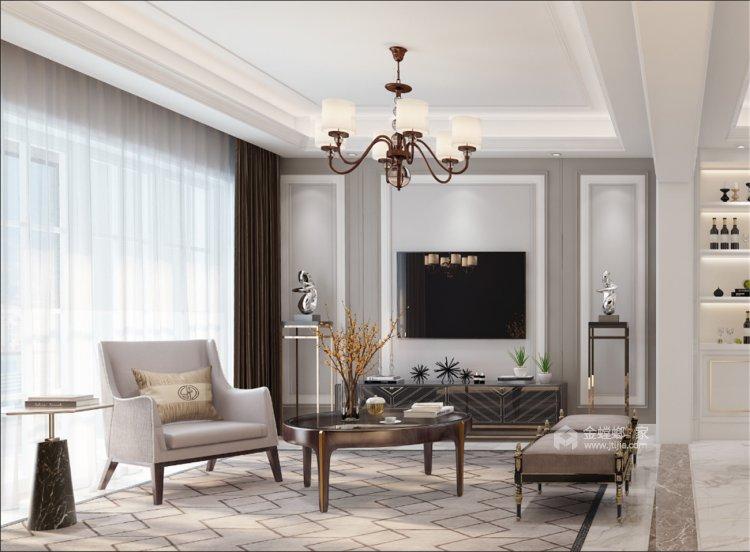 阿卡迪亚现代美式经典案例-空间效果图