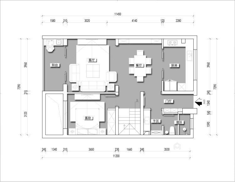 阿卡迪亚现代美式经典案例-平面布置图