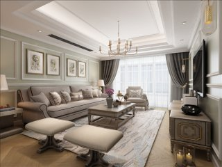 让你不得不爱的简美风格的婚房装饰-阳光城市花园小区160平米3室美式装修案例