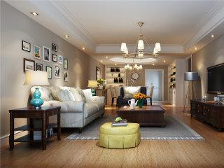 精致大气的166平现代美式风案例-中邦城市花园小区166平米3室美式装修案例