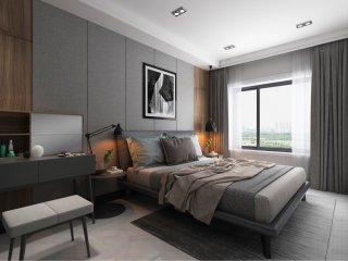 320平舒缓闲逸中式风-兴龙湾小区320平米别墅新中式装修案例