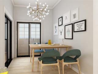 北欧小清新,一个温馨的家-十方界小区81.5平米2室北欧装修案例