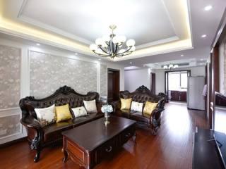 古风浓郁,155平米美式风格-星尚花苑小区155平米4室美式装修案例