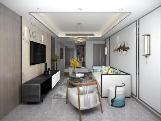韵味东方,85平米新中式风格-江城逸品3期小区85平米2室新中式装修案例