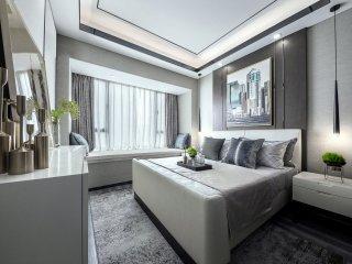 港式轻奢,轻奢于形,优雅于里-江城逸品3期小区81平米3室简美装修案例