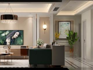 简欧轻奢,色彩与美感的完美结合-江城逸品3期小区121平米3室简欧装修案例