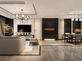 新中式,庄重而华丽的乐章-江城逸品3期小区109平米3室新中式装修案例
