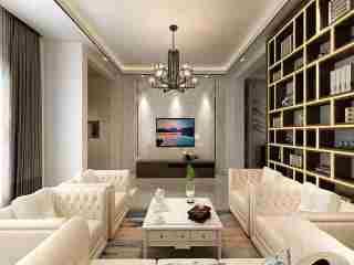 350大户型现代传统相结合-梧桐城邦小区350平米别墅现代装修案例