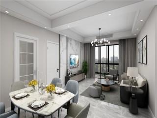 112简约舒适现代风-都市花园小区112平米3室现代装修案例