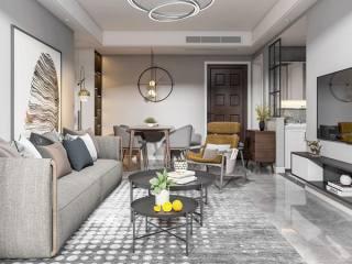 简约而不简单 85㎡现代三居-海赋尚城小区85平米3室现代装修案例