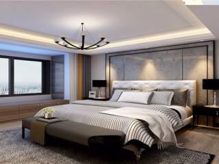 沉稳中的低调 177平米现代风格-荷澜庭小区177平米4室现代装修案例