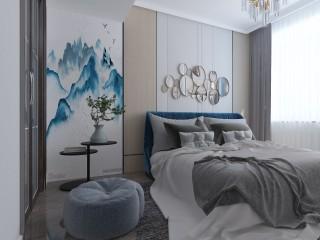 126平新中式,典雅大气-高庐御品江城小区126平米3室新中式装修案例