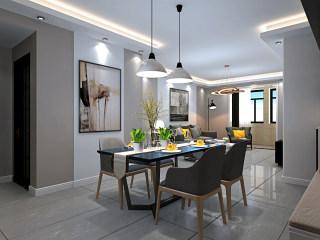 现代简约风格,以简驭繁~-华恩城小区143平米4室现代装修案例