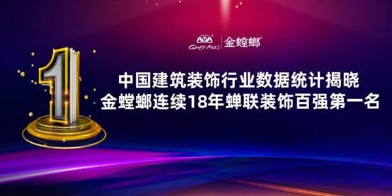 中国建筑装饰行业数据统计揭晓 金螳螂连续18年蝉联装饰百强第一名
