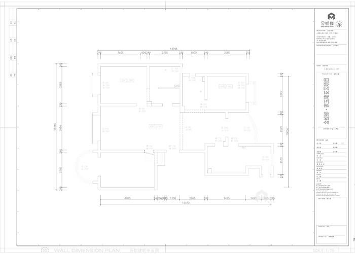 160㎡经典美式浪漫婚房,给她一个家-原始结构图
