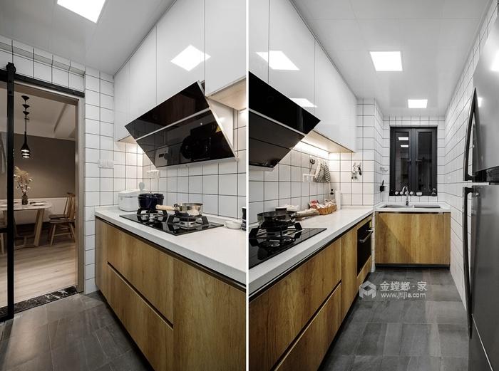 74平米的二手房这么一改造,颜控都心动了-空间效果图