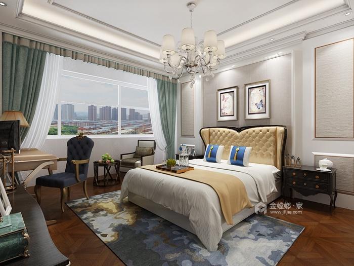 202平米的品质美式家,三代同堂才更有爱-主卧