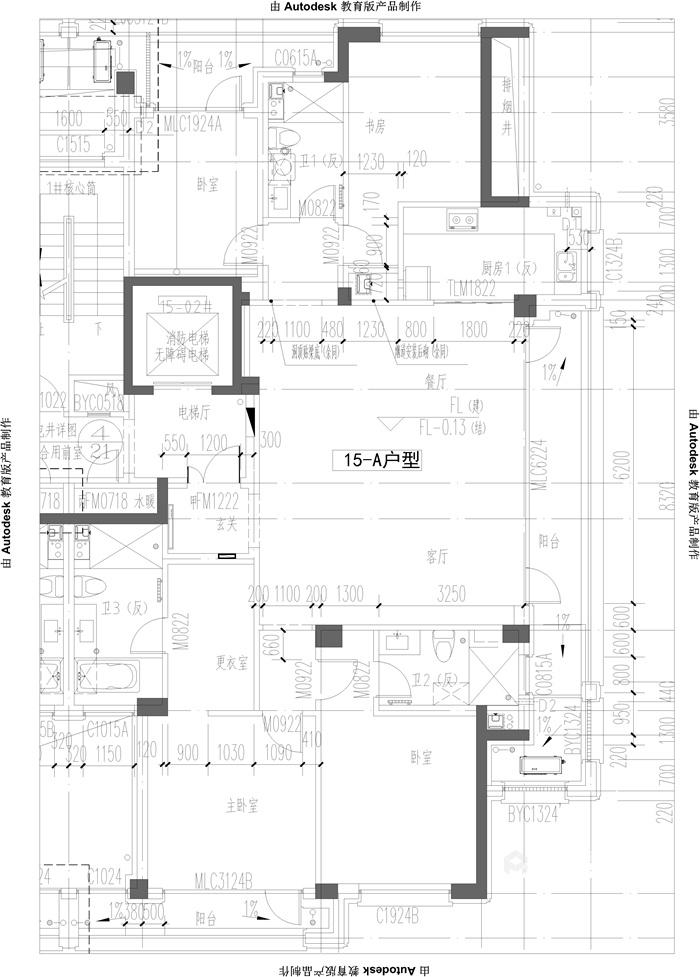 202平米的品质美式家,三代同堂才更有爱-原始结构图