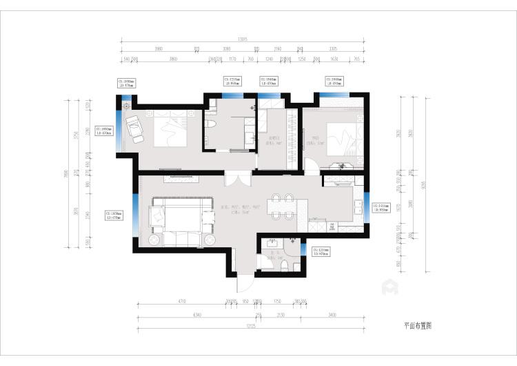 单身公寓如何打造简约温馨日式风?-平面布置图