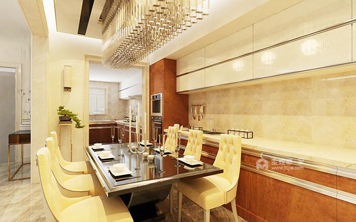 传统与现代的完美融合,350㎡新中式大宅-餐厅