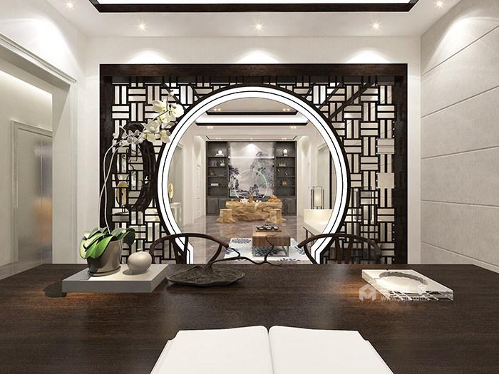 传统与现代的完美融合,350㎡新中式大宅-书房