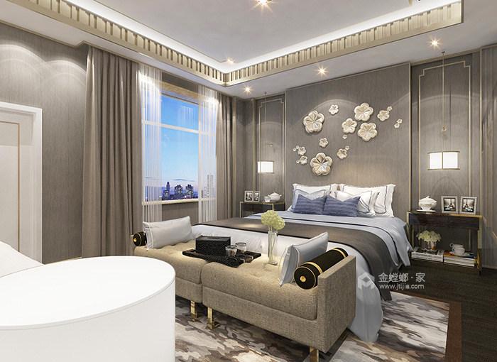 传统与现代的完美融合,350㎡新中式大宅-卧室