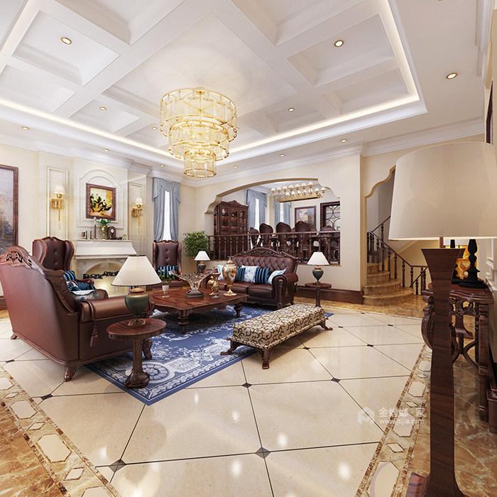 360平米的迷人美式情调-客厅