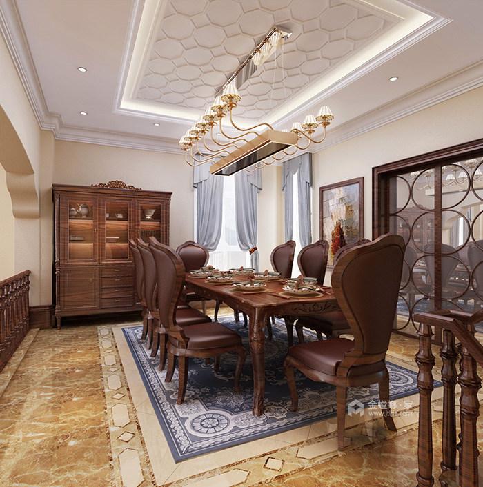 360平米的迷人美式情调-餐厅