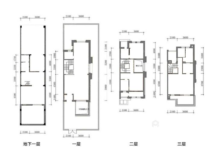 传统与现代的完美融合,350㎡新中式大宅-原始结构图