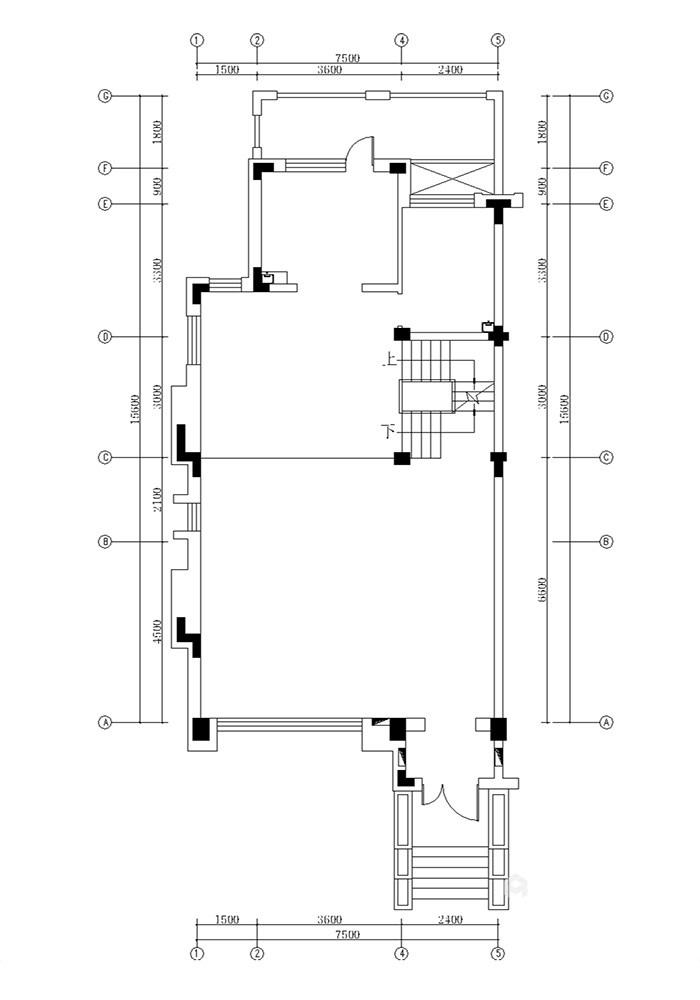 360平米的迷人美式情调-原始结构图