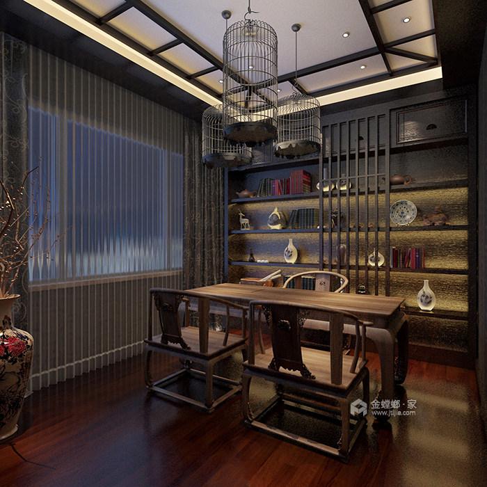 360平米的迷人美式情调-书房
