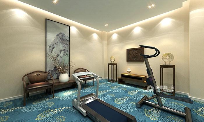 传统与现代的完美融合,350㎡新中式大宅-健身房