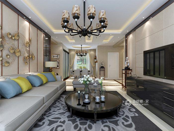 126平现代风格,工业风与精致生活家-客厅
