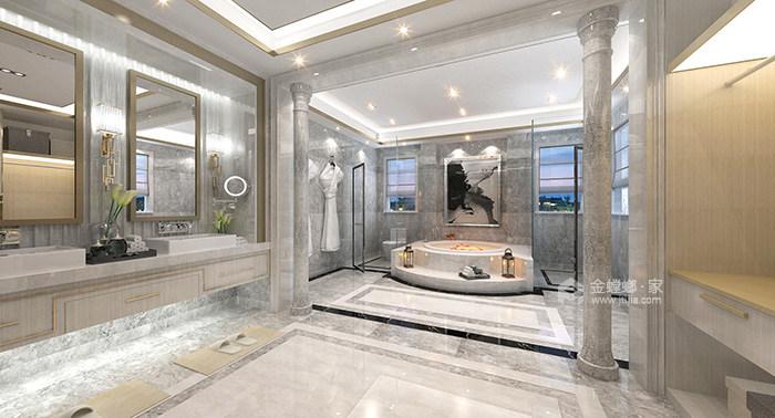 传统与现代的完美融合,350㎡新中式大宅-卫生间