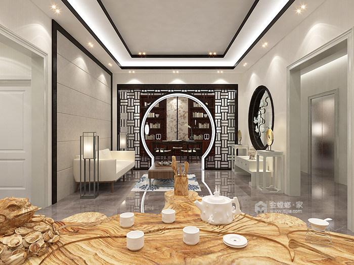 传统与现代的完美融合,350㎡新中式大宅-会客室