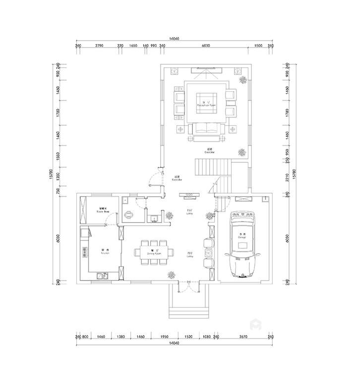用新的设计语言定义的家-平面布置图