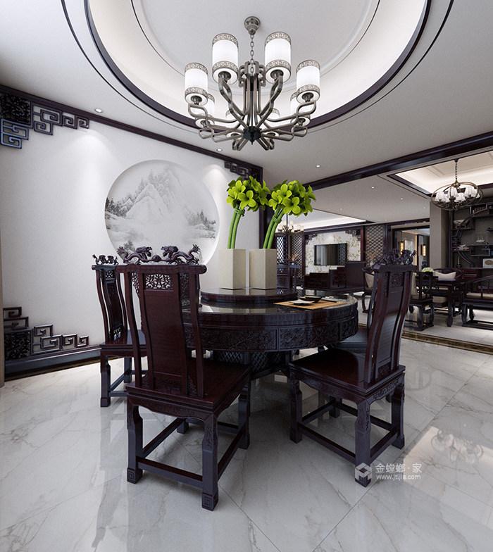 新中式风格传承古典生活艺术-餐厅