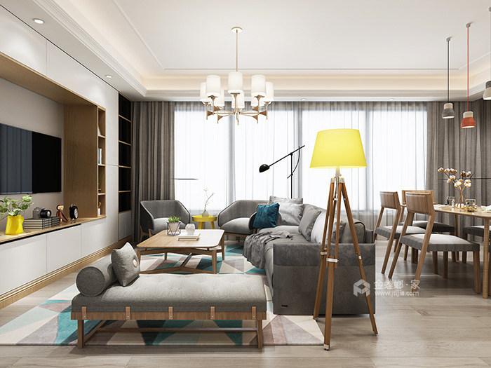 现代与古典并重的低调与奢华-客厅