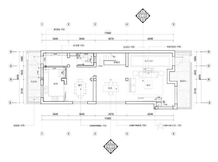 """新中式家居的禅意生活让你享受不一样的""""繁华""""-平面布置图"""