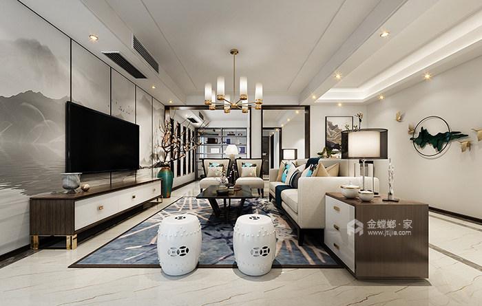 """新中式家居的禅意生活让你享受不一样的""""繁华""""-客厅"""