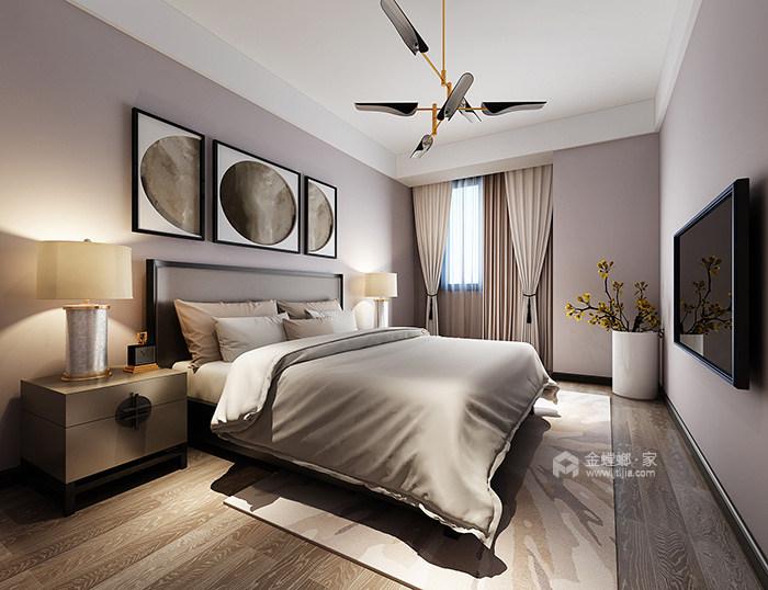 """新中式家居的禅意生活让你享受不一样的""""繁华""""-次卧"""