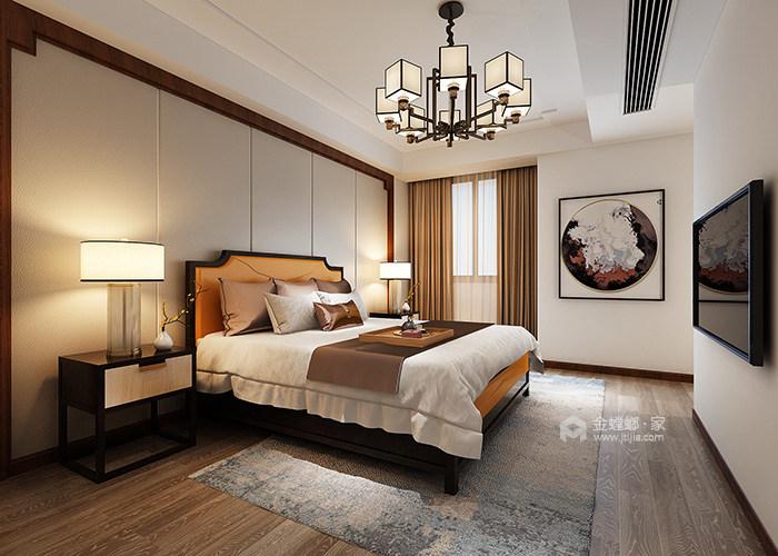 """新中式家居的禅意生活让你享受不一样的""""繁华""""-主卧"""