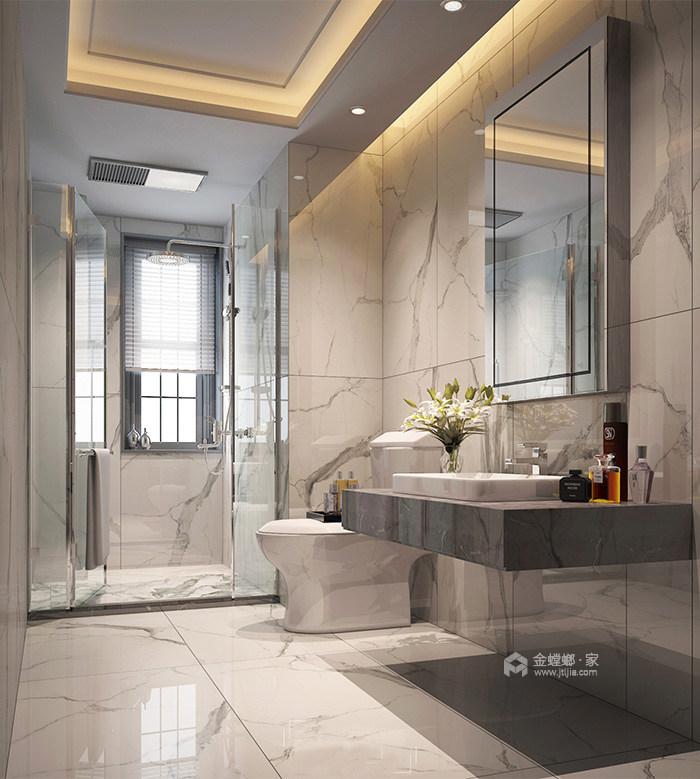 165㎡新中式风格家,高级灰美出了新高度-卫生间