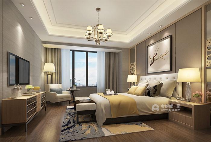 165㎡新中式风格家,高级灰美出了新高度-卧室