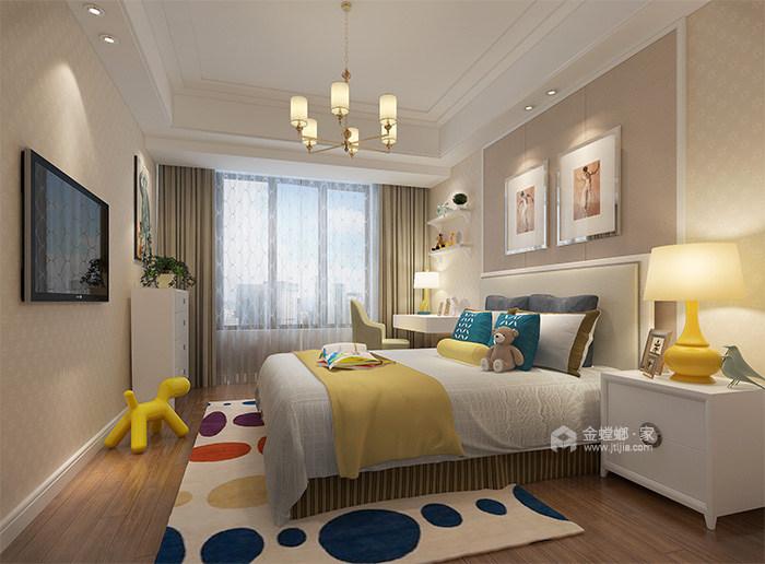 165㎡新中式风格家,高级灰美出了新高度-儿童房