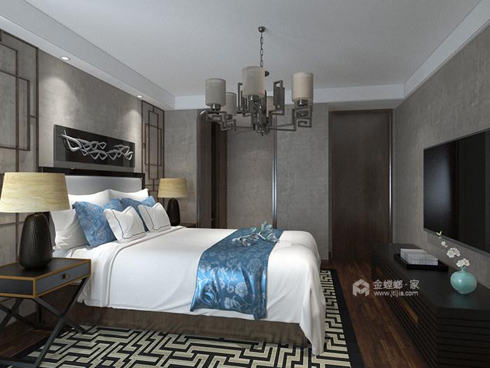 新中式风也可以简约时尚-卧室