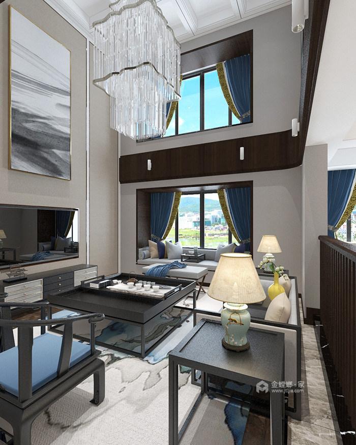 新中式风也可以简约时尚-客厅